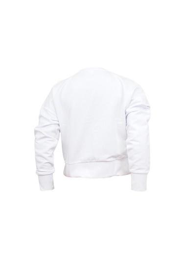 Skechers Skechers S201033-100 Lightweight FleeceW Low Sleeve Sweatshırt Beyaz